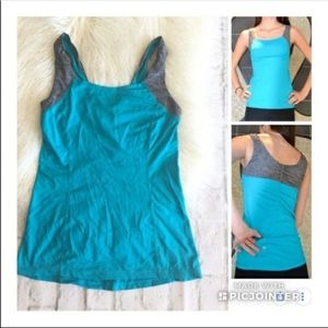 Lululemon teal and grey tank size 6
